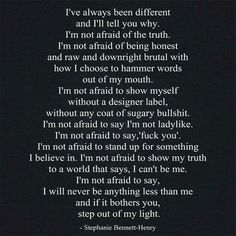 Be different, its beautiful♡