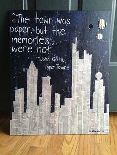 Paper Towns, John Green. One of my all time favorites.