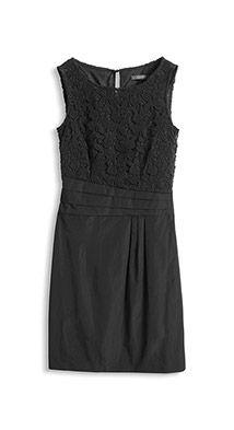 material mix shift dress