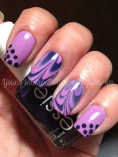 Young Wild and Polished: 30 Day Challenge Day 6--Violet (Water Marble)
