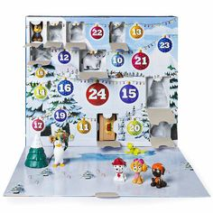 Count down to the holidays with the Paw Patrol Advent Calendar. There are 24 gifts for every day leading up to the big day! Open a door each day and reveal a new mini Paw Patrol figure! Collect each figure and play or display them! Holiday Countdown, Countdown Calendar, Advent Calendars, The Body Shop, Holidays With Kids, Christmas Holidays, Christmas Trees, Christmas Gifts, Christmas Decorations