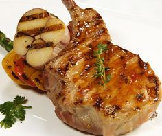 Oven grilled pork steak.Cook delicious pork steaks in turbo oven.Easy and simple.
