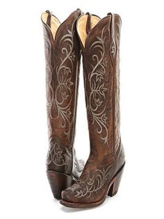 186628e4d46 BootDaddy Collection with Tony Lama Chocolate Embroidered Cowgirl Boots