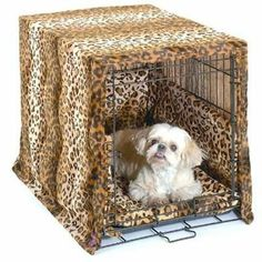 Pet Dreams Leopard Dog Crate Cover - Extra Small 27810 Brand New