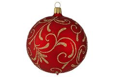 Victorian Glitter Ball Ornament on OneKingsLane.com