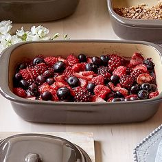 This sweet and simple combination of warm mixed berries is the perfect topping for baked oatmeal.