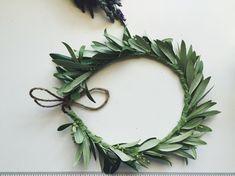 Olive Leaf Flower Crown - Handmade Fresh Flower Crown, Floral Boho Head Piece, Wedding Flowercrown