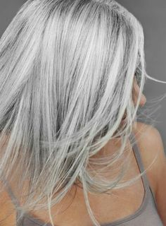 50 Gray Silver Hair Color Ideas in 2019, Silver hair trend hair color as well as attitude and these days not only for Gümüş seniors Gümüş. Silver trendy sexy nervous and super trend. Wo..., Street Style