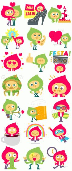 Line Stickers - Best Friends For Life (Free Download) by Mauro Gatti, via Behance