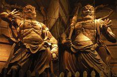 東大寺南大門 木造金剛力士立像 GREAT DARK ONES, DARK WARRIORS KUBERA, BISHAMONTEN, & DAIKOKUTEN (MAHAKALA).