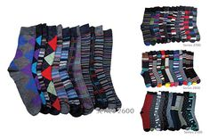 31d3a5f0848d $27 for 12 Pairs Of Excell Men's Fashion Designer Striped Color Dress  Series Socks - Shipping Included