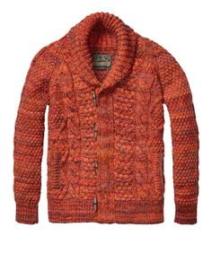 Beautiful!! Structured Cable Cardigan > Mens Clothing > Pullovers at Scotch & Soda