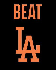 The Giants may be to last in the NL West and not going to playoffs but at least they kept the Dodgers from clinching at Dodgers Stadium. Any win against the Dodgers is a good one though. Baseball Playoffs, Baseball Gear, Baseball Quotes, Giants Baseball, Baseball Equipment, Basketball Teams, Basketball Tickets, Baseball Games, Basketball Court