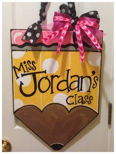 Pencil Door Hanger by GoodnessGraciouss on Etsy, $30.00