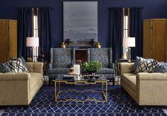Simone Fifer Bancroft Rialto Living Room Bernhardt Beige Sofa Interior Design