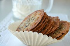 They look and taste exactly like Pepperidge Farm Brussels Cookies.