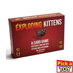 Exploding Kittens is a card game for people who are into kittens and explosions and laser beams and sometimes goats. It is a highly strategic kitty-powered version of Russian Roulette. Players try to avoid drawing Exploding Kittens (which Best Family Board Games, Fun Board Games, Family Games, Fun Games, Games For Kids, Party Games, Children Games, Group Games, Dice Games