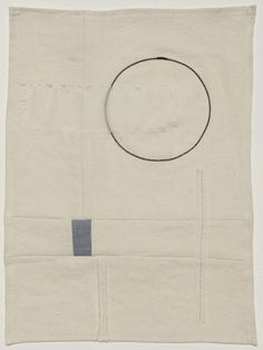 "Kathryn Clark, What comes around goes around, 2010. 12"" x 16"", Silk and steel wire on linen. via Idiom Series - Kathryn Clark"