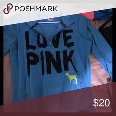 Pink half zip Pink half zip PINK Victoria's Secret Sweaters Shrugs & Ponchos
