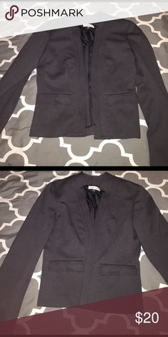 Charcoal Blazer Petite Calvin Klein Jackets & Coats Blazers