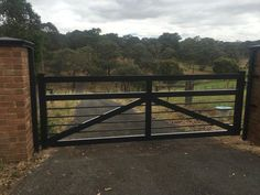 Our farm gates are made from aluminium, but designed to look like timber farm gates; lighter in weight, very strong and stable and will not rust, twist or rot.