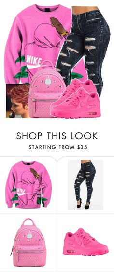 """Untitled #549"" by chynaloggins ❤ liked on Polyvore featuring MCM and NIKE"