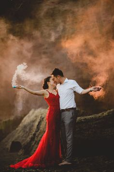 Bali Pre-wedding Shoot From Sunrise to Sunset (Volcano, Waterfall, Rice Field and Beach) via OneThreeOneFour.com