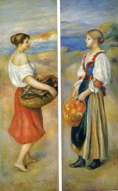 Peasant Girls. Pierre Auguste Renoir