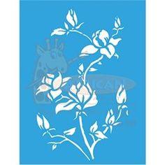 Stencil Flores Magnólias 32x42 - OPA