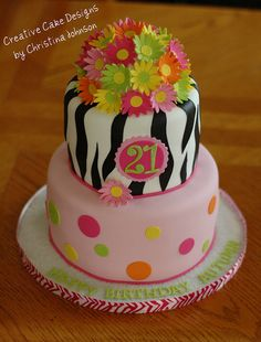 Zebra Daisy Cake