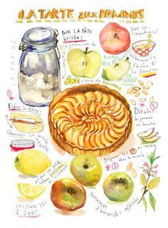 illustration lucile prache tarte pommes.jpg - Lucile PRACHE | Virginie