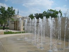 City of Arlington Texas Splash Pad, Fountain Of Youth, Water Features, Pavilion, Waterfall, Places To Visit, Arlington Texas, Water Fountains, Pictures