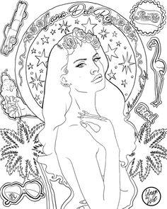 Mademoiselle Stef - Blog Mode, Dessin, Paris   Coloriage : Lana Del Rey � Ultraviolence   http://www.mademoisellestef.com