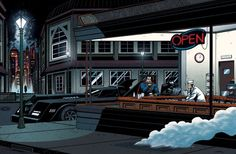 Batman and Superman are Edward Hopper's Nighthawks