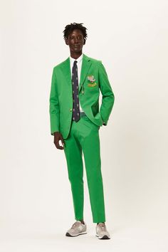 Rowing Blazers, Green Suit, Perfect Wardrobe, Suit And Tie, Old Women, Travel Style, Dapper, Childrens Books, Preppy