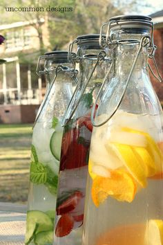 Flavored Water Refreshers ! Refreshment has never tasted so good.  These naturally flavored water recipes are sure to keep you delightfully hydrated!