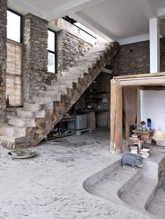 28 Interior And Exterior, Interior Design, Stairway, Rustic, Duc, Architecture, Places, Stone Walls, Interiors