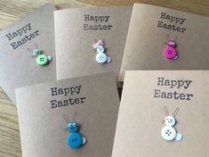 A personal favourite from my Etsy shop https://www.etsy.com/uk/listing/573629190/easter-bunny-button-cards