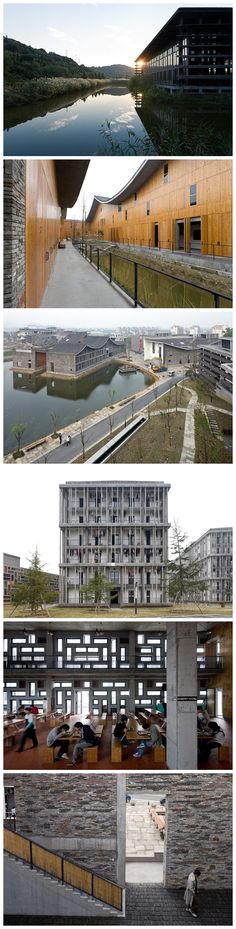 The New Academy of Art Nanshan Campus from different perspectives. Photographed by Iwan Baan
