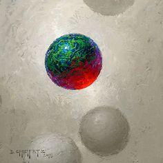 Alpha Orb by David Cheifetz Oil ~ 6 x 6