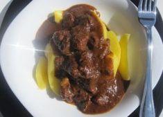 Pikáns vadmalac pörkölt bográcsban készítve Beef, Food, Meals, Yemek, Steak, Eten