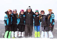 Une partie de la gang U16 - Louise, Maxime, Frédérique, Nicolas (entraineur), Juliette C, Juliette D et Stéphanie
