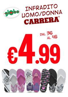Infradito Carrera Uomo/Donna a soli € 4.99