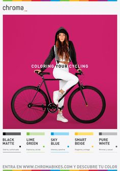 Chroma Bikes Advertising-Laura- by Helsinki Studio