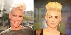 """What started in 2009, with singer Cassie's shaving of the side of her head, this trend of shaved women's hair styles is at a complete uproar. Seen worn by music artists such as, but not limited to, Pink and Miley Cyrus, the partial shaved du comes in many different styles, designs and colors. This trend has been adopted by women of many different ethnicities, ages, and social classes. It is a new """"edgy"""" look for feminine women. –Katie Patchin"""