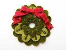 Mini Felt Christmas Wreath