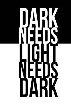 Black and White #dark #light