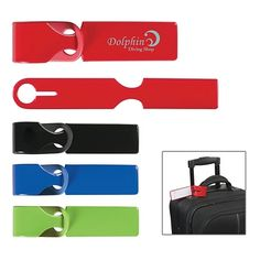 Promotional Loopy Luggage Tag #travel #logo #promoproducts #advertising #luggage | Customized Loopy Luggage Tag | Logo Luggage Tags
