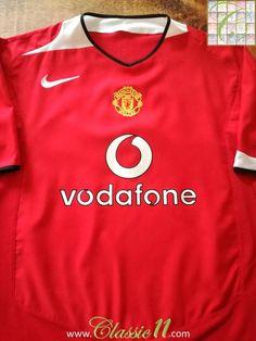 55352fdb1 2004 05 Man Utd Home Football Shirt (M)