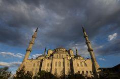 Mosquée Bleue sous ciel gris | Fraaamed | Limited Edition Photos